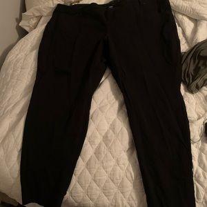 Size 26 extra short black straight leg dress pant